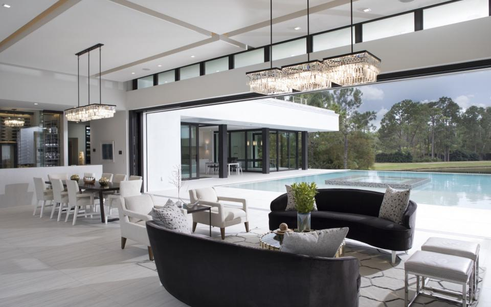 indoor outdoor living spaces luxury the new american home features indooroutdoor living spaces and podstyle architecture pod